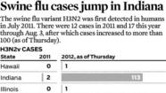 Graphic: Swine flu numbers are increasing