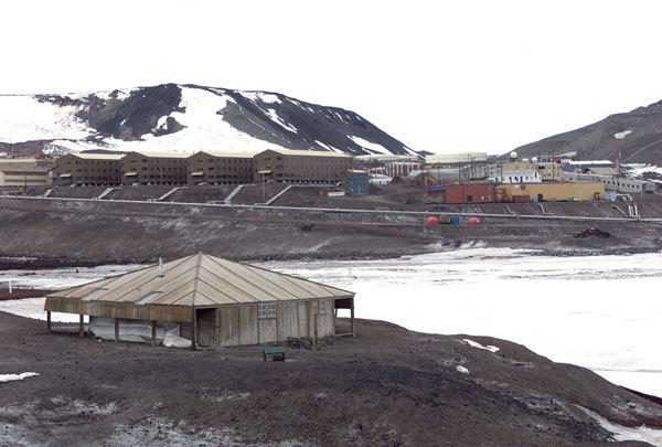 General view of McMurdo Station operated by the United States on Antarctica. Picture taken January 1 2000.