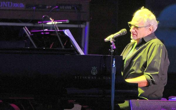 Steely Dan singer Donald Fagen, of supergroup Dukes of September, performs at the Sands Steel Stage in South Bethlehem during Musikfest on Wednesday evening.