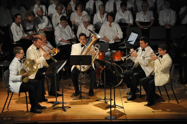 The Bay View Brass Quintet -- Scott Thornburg and Brian Buerkle, trumpet; Aaron Brant, horn; John Rutherford, trombone; and Jacob Cameron, tuba -- will be among the Bay View artists performing at the season finale vesper concert on Sunday, Aug. 12, in Hall auditorium.