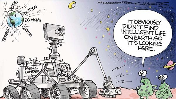 Dana Summers Cartoon: Technology: Space: Mars, NASA