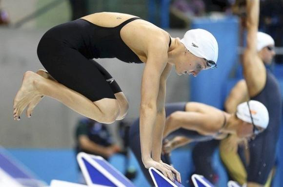 Jessica Hardy, a gold medalist in the London Games, was barred from the 2008 Olympics for taking a tainted supplement. (Al Bello, Getty Images)
