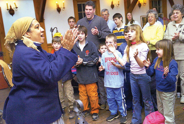 Singer-performer Ilene Evans, left, portrayed Harriet Tubman at O¿Hurley¿s General Store in Shepherdstown, W.Va., in this 2005 file photo.