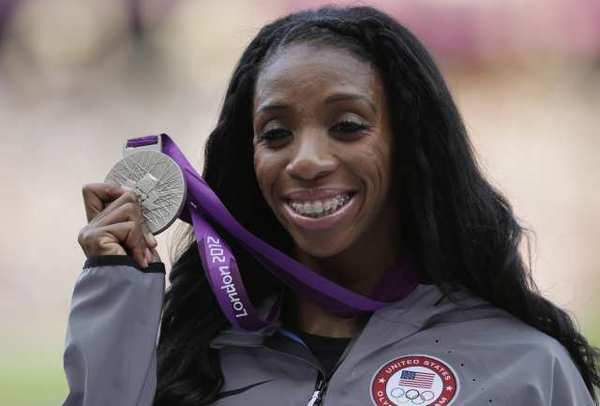 Lashinda Demus says she's proud of her silver medal, but is still determined to bring home gold.