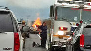 GALLERY: Tractor-trailer fire on I-70