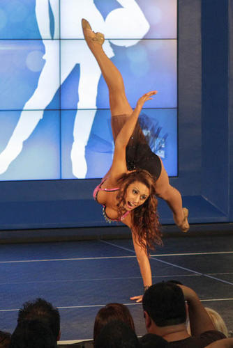Gizelle competes in the finals for the 2012-2013 Orlando Magic Dancer auditions at Amway Center in Orlando, Fla. on Thursday August 09, 2012.