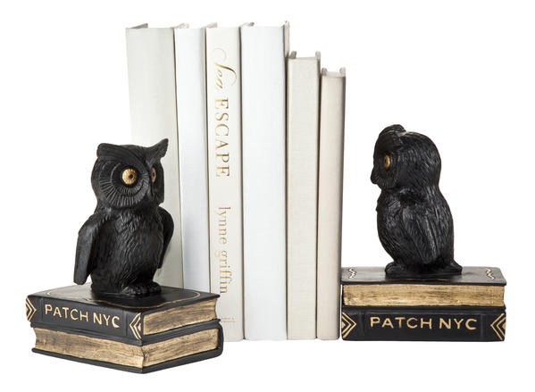Funny/scary owl bookends are $24.99.