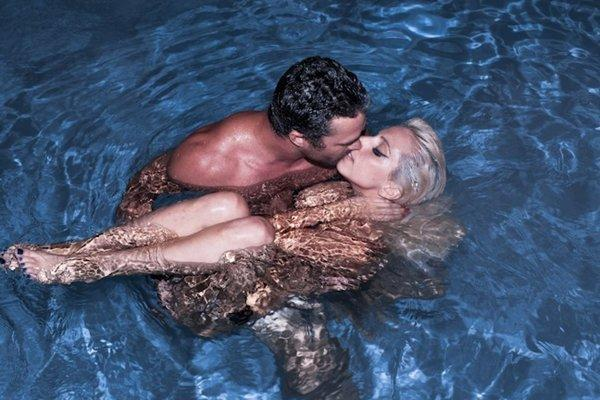 Lady Gaga, no stranger to controversy, drew attention with two eye-catching images. In one, Gaga is swimming with actor boyfriend Taylor Kinney -- seemingly in the buff. In the other, Gaga makes the cover of Vogue in a pose that seems to channel drag queen superstar Ru Paul. <br><br> <strong>