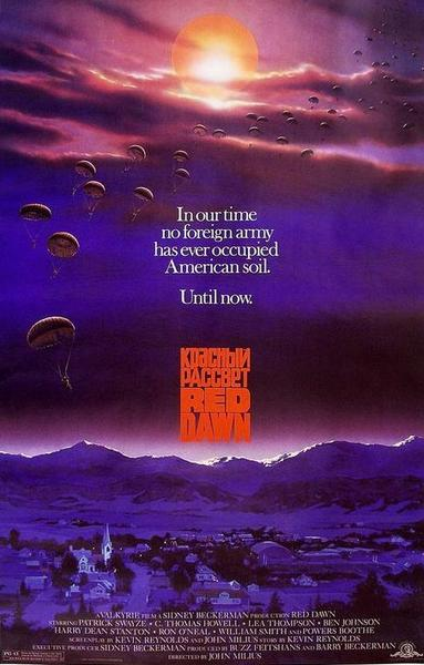 """Red Dawn,"" the first PG-13 movie ever, is released. It's the unlikely story of a Russian invasion of American thwarted by a bunch of teens, including Patrick Swayze. The movie co-starred C. Thomas Howell, Lea Thompson, Charlie Sheen, Jennifer Grey and Harry Dean Stanton."