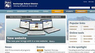 The Anchorage School District launched its revamped website on Monday, August 13, which is phase 1 of a three-phase process over the next year.
