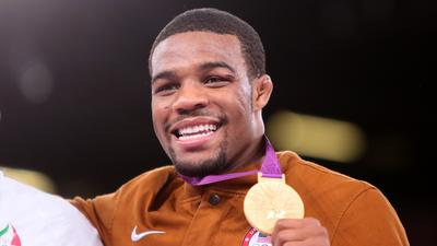 Wrestler Burroughs wins gold, just like he said