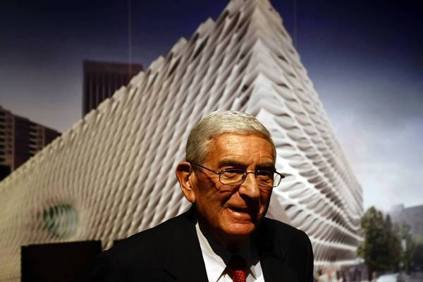 Eli Broad's foundation pledge to MOCA is currently under dispute.