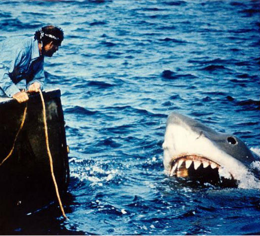 From 'Jaws' to 'Jabberjaw': 25 memorable sharks from pop culture: No one will ever forget the duh-nuh, duh-nuh, duh-nuh-duh-nuh-duh-nuh two-note theme music from Jaws, though, you might have forgotten -- or never known -- the name of the mechanical great white shark used in the 1975 film. The crew nicknamed the big guy Bruce, and even with the 70s-style special effects, he still makes people afraid to go in the water.