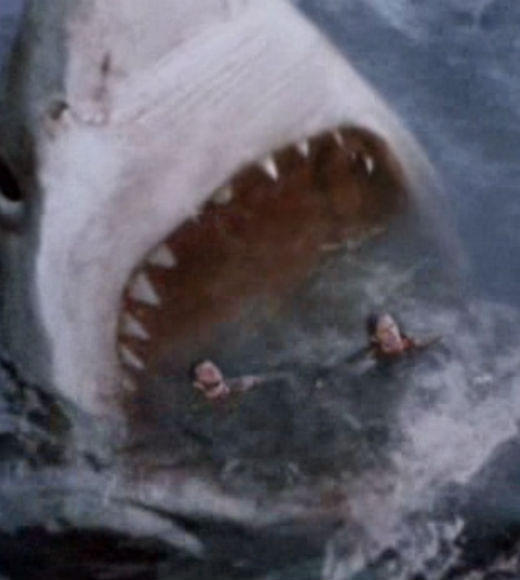 From 'Jaws' to 'Jabberjaw': 25 memorable sharks from pop culture: In case a man-eating shark isnt enough for you, enjoy this direct-to-video really big man-eating shark.