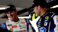 You can't wipe the smile off the face of Dale Earnhardt Jr. these days, not even at a road course.