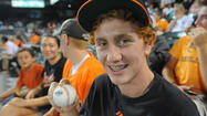 Teenager catches both of Manny Machado's home runs
