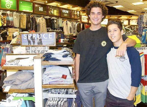 Corona del Mar High School juniors Andrew Boukather and Cole Friedman started the Spruce Clothing line, which is sold at Jack's Surfboards in Corona del Mar.