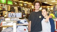 Corona del Mar High School juniors Andrew Boukather and Cole Friedman used to shop at Jack's Surfboards in Corona del Mar Plaza.