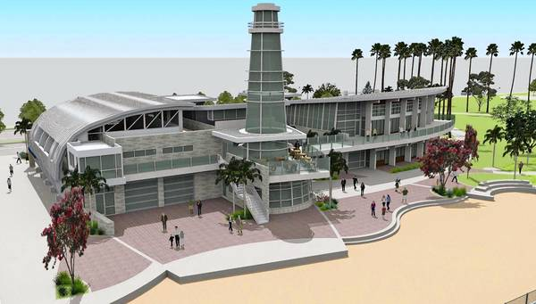 A rendering of Marina Park, the proposed community center on Balboa Peninsula.