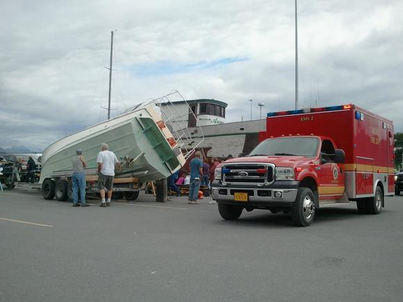Boat Slides off Trailer in Valdez, Pins Man Beneath It