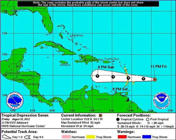 Tropical Depression 7 may not strengthen to Tropical Storm status after all, forecasters said
