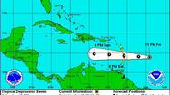 Tropical Depression 7 picked up forward speed but no strength as it aimed toward the Caribbean on Friday.