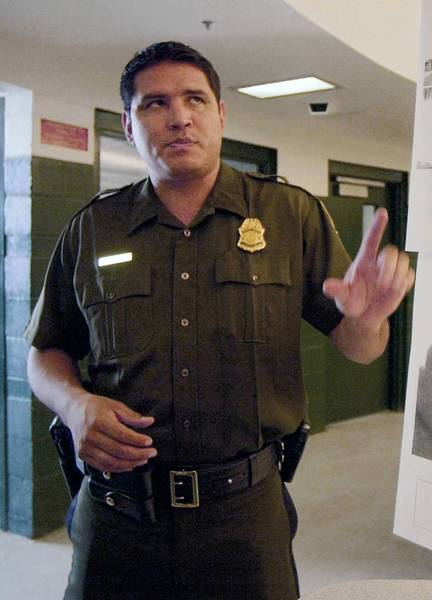 Raul Villarreal, shown in 2002, was once the face of the Border Patrol in the San Diego area, making frequent appearances on Spanish-language television newscasts as a media liaison.