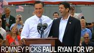 Mitt Romney announced Wisconsin Rep. Paul Ryan as his running mate Saturday, selecting the Republican Party's go-to man on budget issues in a decision that signals the campaign will make the nation's spiraling debt a centerpiece of its attacks on President Obama.