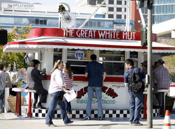 "The Great White Hut is used for background during filming of the CBS television show ""Criminal Minds"" at the corner of Orange and California avenues in Glendale"