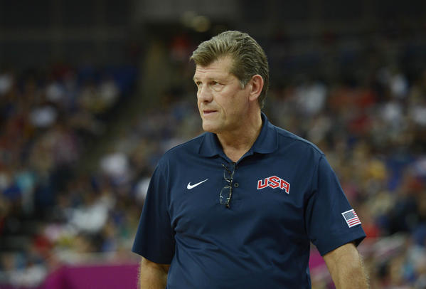 SA head coach Geno Auriemma during the women's basketball gold medal game against France in the London 2012 Olympic Games at North Greenwich Arena.