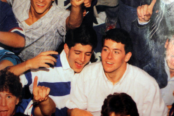 Paul Ryan, center left, is pictured on the cover of the 1988 Joseph A. Craig High School yearbook in Janesville, Wis.