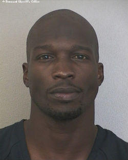 Chad Johnson was booked into Broward County's main jail just after 1 a.m. Sunday.