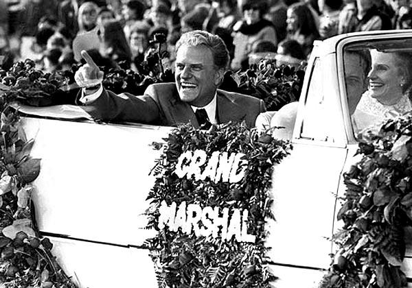 Graham was grand marshal of the Rose Parade in Pasadena in 1971.
