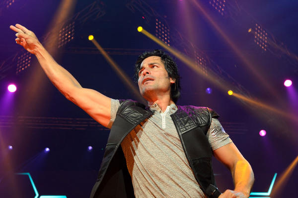 Chayanne performed at Mohegan Sun as part of the Gigant3s tour, also featuring Latin pop stars Marc Anthony and Marco Antonio Solis.