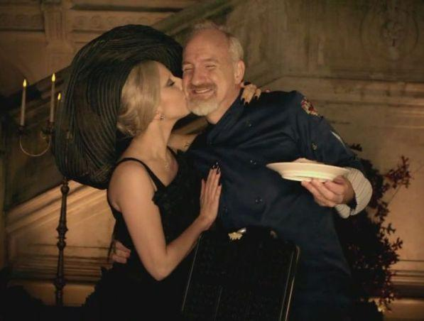 "Pop star Lady Gaga (left) and Chef Art Smith (right) during ABC's ""A Very Gaga Thanksgiving"" special."