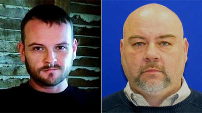 Baltimore police identified the man killed in a double shooting in the city's Mid-Town neighborhood as Alex Ulrich, 41, of Baltimore (left). A second man wounded in the shooting was identified by police as Lawrence Peterson, 56 (right).