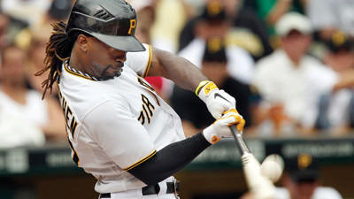 Andrew McCutchen drove in two runs against the Padres on Sunday.
