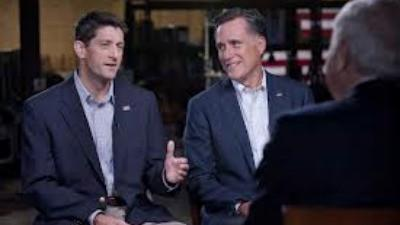 Paul Ryan and Mitt Romney with Bob Schieffer on '60 Minutes'