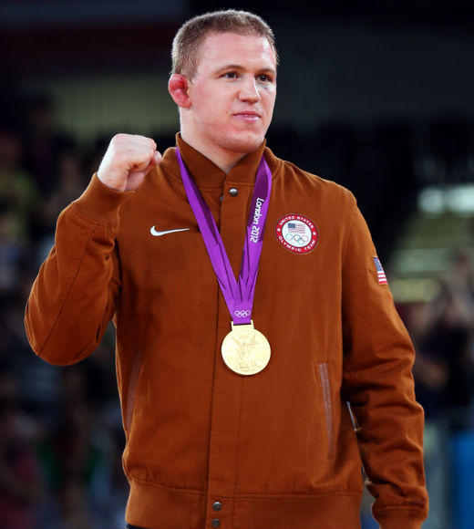 London 2012: Team USA's Gold Medalists: Jake Varner took gold in the 96-kilogram freestyle wrestling final on August 11.