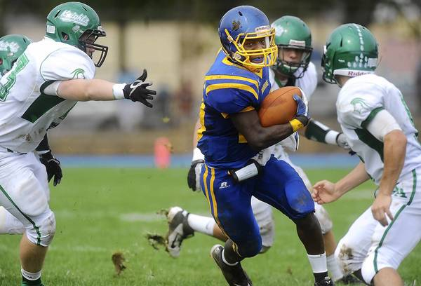 Wilson's Trey Robinson set a Colonial League record with 405 rushing yards against Notre Dame-Green Pond last season.