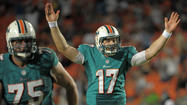 Ryan Tannehill is suddenly in a two-player race to try and win the starting quarterback job for the Miami Dolphins.