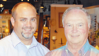 James M. Reid III (left), and his father, James M. Reid Jr., are fourth and third generation owners, respectively, of Reid Furniture.