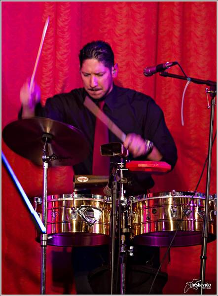 Robin Lugo leads the Hampton Roads salsa band Tumbao Salsero.