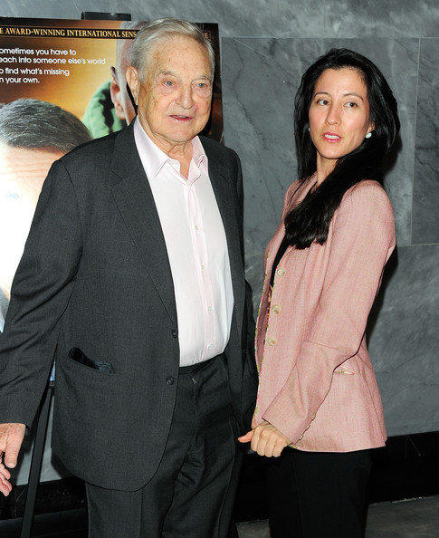 George Soros and Tamiko Bolton, who recently became engaged