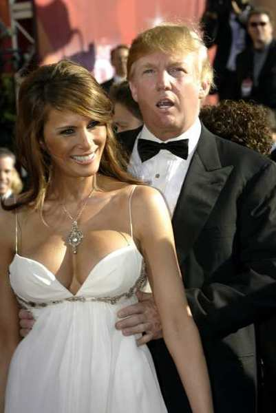 Donald Trump with beautiful, Wife Melania Knauss