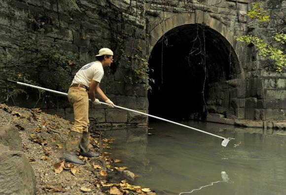 Gwynns Run and other Baltimore waters are tained by trash, sewage