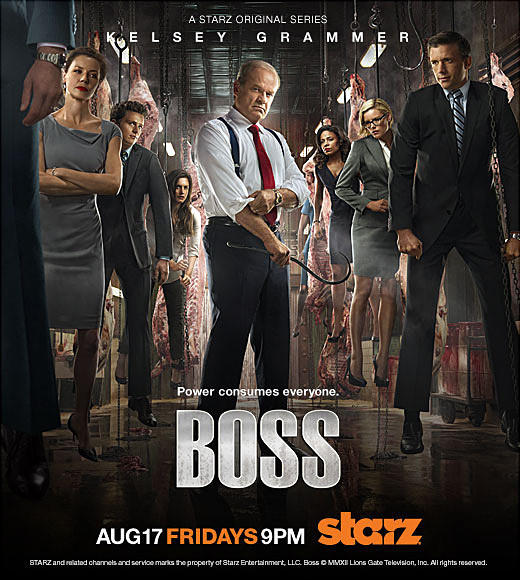 TV's Power Players: Season two of the Starz original series Boss returns on Friday, August 17th.   Here is a quick look at some of our favorite power hungry characters.