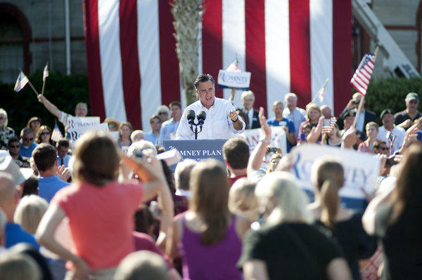 Mitt Romney speaks at Flagler College in St. Augustine, Fla.