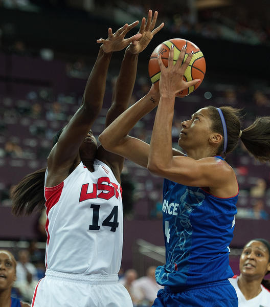 Just like at UConn, it was hard to score on Team USA because of Tina Charles' swarming defense.