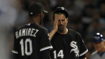 White Sox first baseman Paul Konerko reacts after being injured during an infield single against the Royals on Aug. 7.